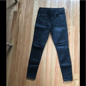 Express NWOT faux leather black skinny leg jeans
